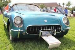 Oude toont de Chevrolet-Korvet Auto bij de auto Stock Fotografie