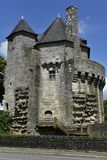 Oude Toren in het Historische Centrum van Vannes, Bretagne, Frankrijk Stock Afbeelding
