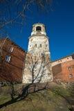 Oude toren met uren Royalty-vrije Stock Afbeelding