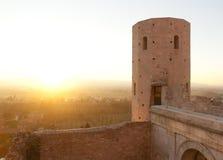 Oude Toren van Spello Stock Afbeelding