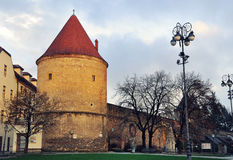 Oude toren in Zagreb, Kroatië Stock Foto's