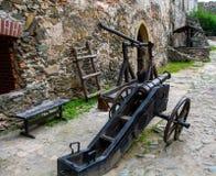 Oude tot op heden bewaarde vuurwapens, Tentoonstelling in het Kasteel van Bolkow Polen Stock Foto