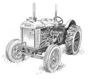 Oude Tractor vector illustratie
