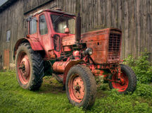 Oude tractor Stock Foto's