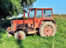 Oude Tractor Stock Foto