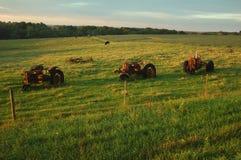 Oude tractoren Stock Afbeeldingen
