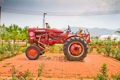 Oude tractoren Stock Foto's