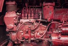 Oude tractormotor Stock Afbeeldingen