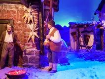 Oude traditie van het maken van de voederbak tijdens Kerstmisholida royalty-vrije stock afbeelding