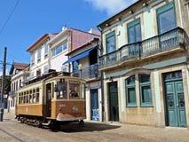 Oude tram in Porto Royalty-vrije Stock Afbeeldingen
