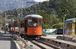 Oude tram - RUW formaat Royalty-vrije Stock Afbeeldingen