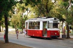 Oude tram Yevpatoria stock foto