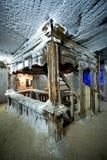 Oude treden in saltmine Stock Afbeelding