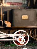 Oude trein, Ä°stanbul, Sirkeci-station royalty-vrije stock afbeelding