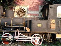 Oude trein, Ä°stanbul, Sirkeci-station Royalty-vrije Stock Foto's