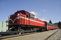 Oude trein. Stock Foto