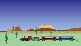 Oude trein Stock Illustratie