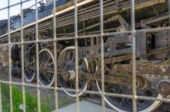 Oude trein bij het Roundhouse-Park in Toronto, Ontario Royalty-vrije Stock Foto