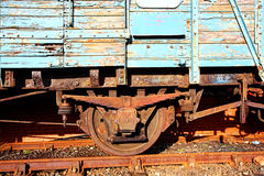 Oude trein dichte omhooggaand Stock Afbeeldingen