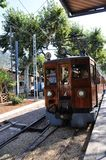 Oude trein in Mallorca, Spanje. Royalty-vrije Stock Foto