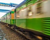 Oude trein in Thailand stock afbeelding