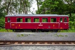 Oude trein van Tsjechische Republiek royalty-vrije stock afbeelding