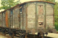 Oude treincabine Royalty-vrije Stock Foto's