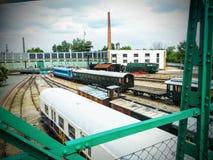 Oude Treinen stock afbeeldingen