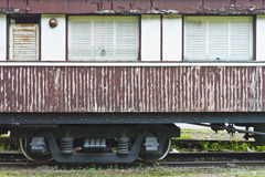 Oude treinlorrie Royalty-vrije Stock Foto