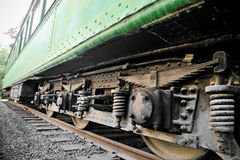 Oude treinwagen Stock Foto