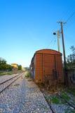 Oude treinwagen Stock Afbeelding