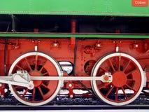 Oude treinwielen Stock Foto