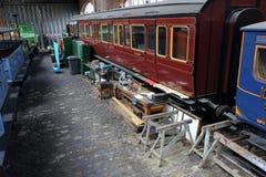 Oude Treinworkshop Royalty-vrije Stock Fotografie