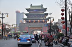 Oude trommeltoren in het Kaifeng Stock Afbeeldingen