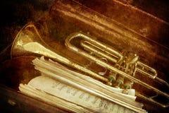 Oude Trompet royalty-vrije stock foto's