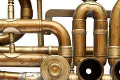 Oude trompetbuizen Royalty-vrije Stock Foto's
