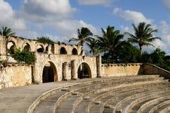 Oude tropische amphitheatre Stock Foto
