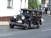 Oude Tsjechische auto, Praga Stock Foto's