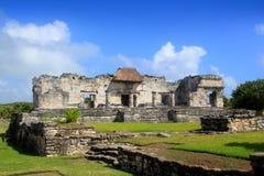 Oude Tulum Mayan ruïneert Mexico Quintana Roo Royalty-vrije Stock Afbeelding