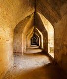 Oude tunnel in kasteel, Mandalay, Myanmar Royalty-vrije Stock Afbeelding