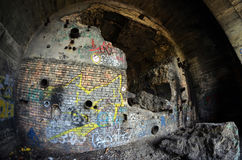 Oude tunnel van Stalin Een deel van de defensielijn van Kiev in WW2 tijd Stock Afbeeldingen