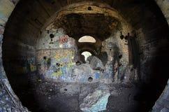 Oude tunnel van Stalin Een deel van de defensielijn van Kiev in WW2 tijd Stock Foto