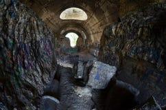 Oude tunnel van Stalin Een deel van de defensielijn van Kiev in WW2 tijd Royalty-vrije Stock Afbeelding