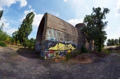 Oude tunnel van Stalin Een deel van de defensielijn van Kiev in WW2 tijd Stock Foto's
