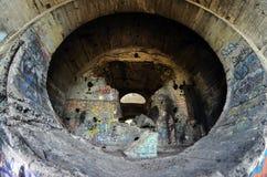 Oude tunnel van Stalin Een deel van de defensielijn van Kiev in WW2 tijd Stock Afbeelding