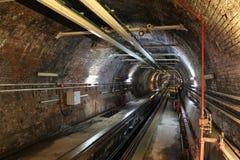 Oude Tunnellijn in de stad van Istanboel Royalty-vrije Stock Foto
