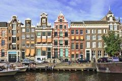 Oude Turfmarkt in het centrum van Amsterdam. Stock Afbeelding