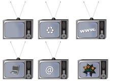 Oude TV royalty-vrije stock foto's