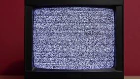 Oude TV geen signaal stock video