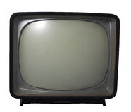 Oude TV - het concept van de Televisie Stock Afbeeldingen